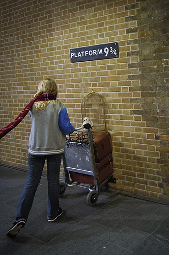 Londra: Binario 9 e 3/4 Harry Potter