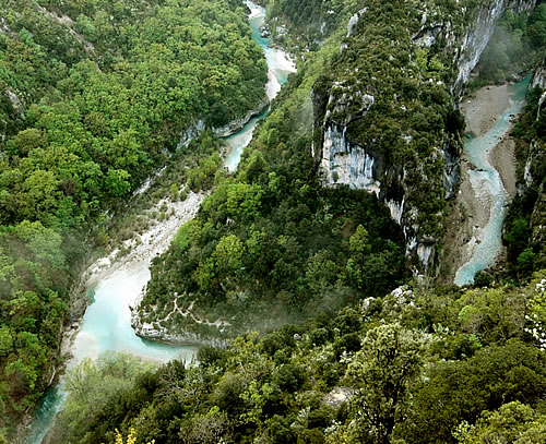 Grand Canyon du Verdon: La Mescla